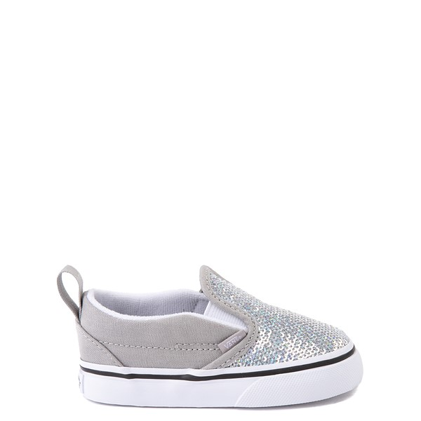 Vans Slip On V Micro Sequins Skate Shoe - Baby / Toddler - Silver
