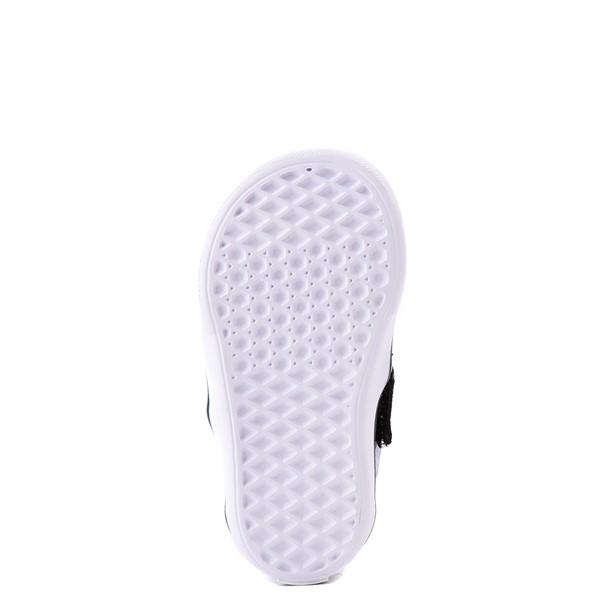 alternate view Vans Slip On ComfyCush® Galaxy Skate Shoe - Baby / Toddler - Black / True WhiteALT3