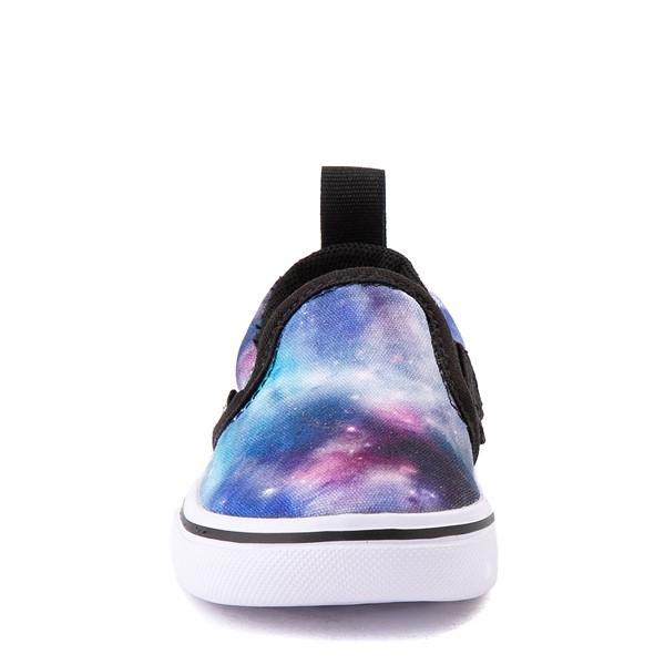 alternate view Vans Slip On ComfyCush® Galaxy Skate Shoe - Baby / Toddler - Black / True WhiteALT4