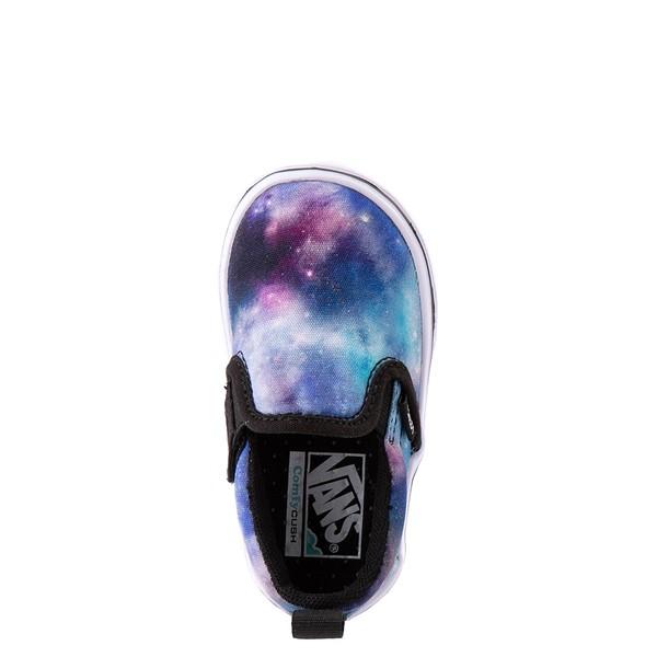 alternate view Vans Slip On ComfyCush® Galaxy Skate Shoe - Baby / Toddler - Black / True WhiteALT4B