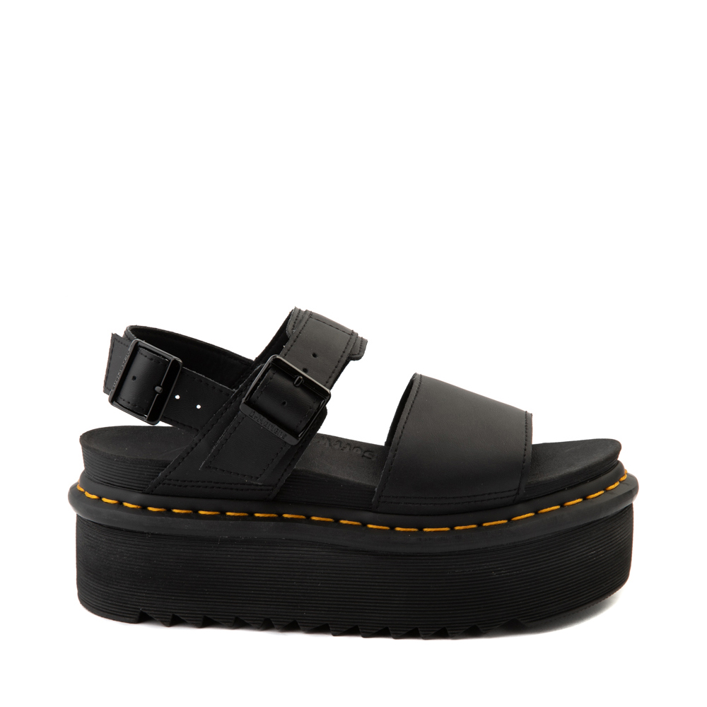Womens Dr. Martens Voss Platform Sandal - Black