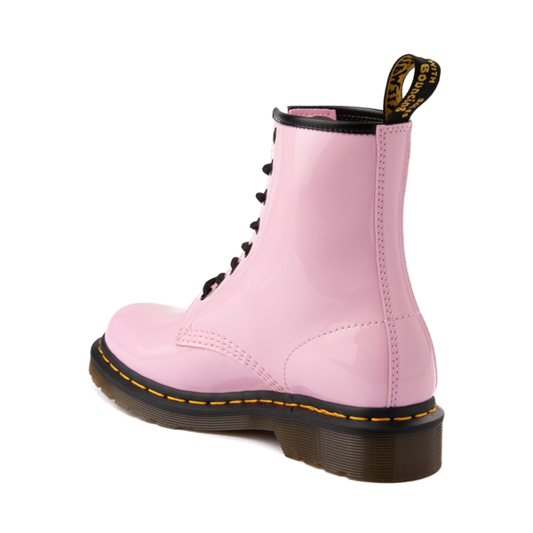 alternate view Womens Dr. Martens 1460 8-Eye Patent Boot - Pale PinkALT1