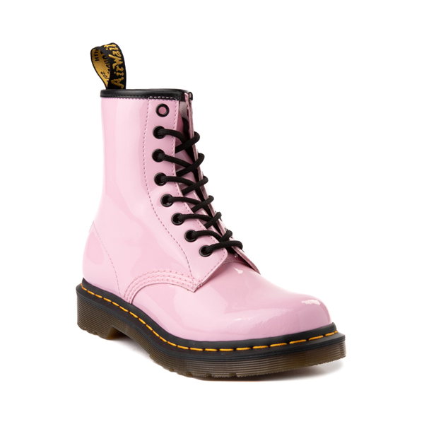 alternate view Womens Dr. Martens 1460 8-Eye Patent Boot - Pale PinkALT5