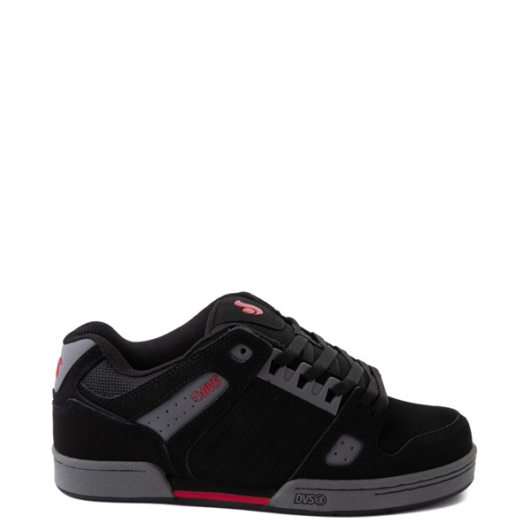 Mens DVS Celsius Skate Shoe - Black / Charcoal / Red