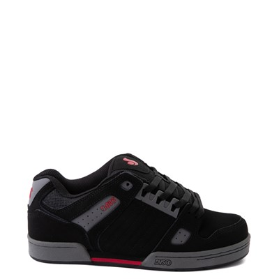 Main view of Mens DVS Celsius Skate Shoe - Black / Charcoal / Red