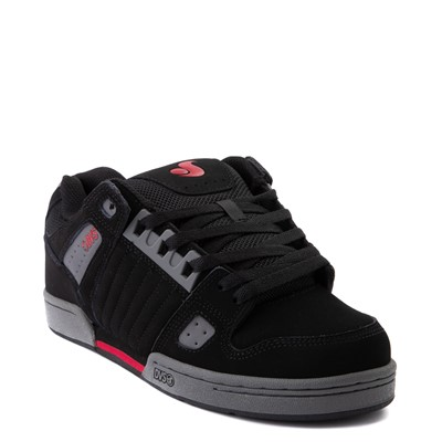 Alternate view of Mens DVS Celsius Skate Shoe - Black / Charcoal / Red