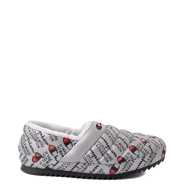 Main view of Mens Champion Varsity Reflective Slipper - Silver