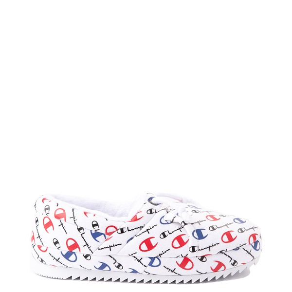 Womens Champion University Slipper - White