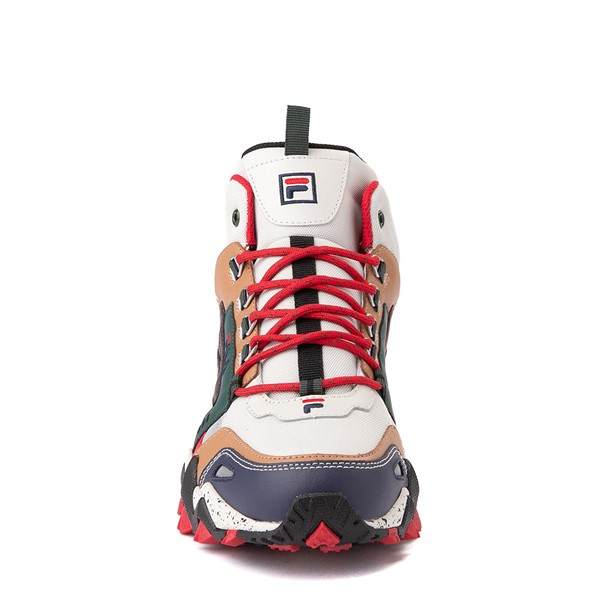 alternate view Mens Fila Oakmont TR Mid Athletic Shoe - Silver Birch / Navy / SycamoreALT4