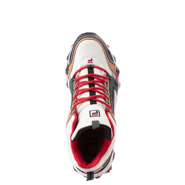 alternate view Mens Fila Oakmont TR Mid Athletic Shoe - Silver Birch / Navy / SycamoreALT4B