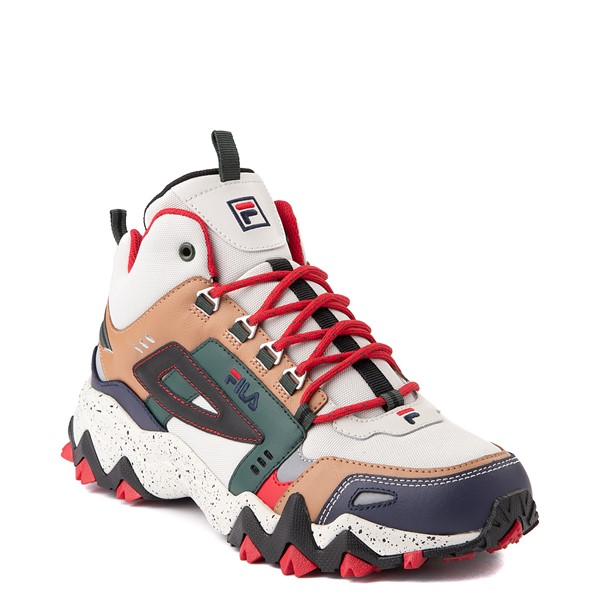 alternate view Mens Fila Oakmont TR Mid Athletic Shoe - Silver Birch / Navy / SycamoreALT5