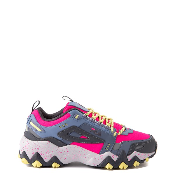 Womens Fila Oakmont TR Athletic Shoe - Pink Glow / Gray / Yellow