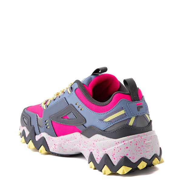 alternate view Womens Fila Oakmont TR Athletic Shoe - Pink Glow / Gray / YellowALT1B