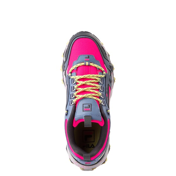 alternate view Womens Fila Oakmont TR Athletic Shoe - Pink Glow / Gray / YellowALT2