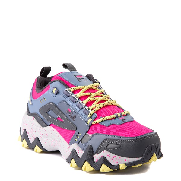 alternate view Womens Fila Oakmont TR Athletic Shoe - Pink Glow / Gray / YellowALT5