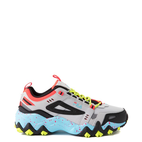 Womens Fila Oakmont TR Athletic Shoe - Silver Birch / Yellow / Blue