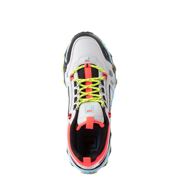 alternate view Womens Fila Oakmont TR Athletic Shoe - Silver Birch / Yellow / BlueALT4B