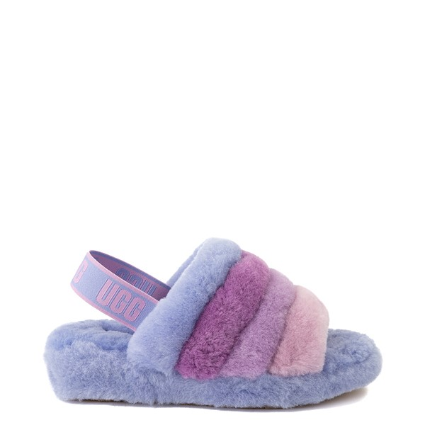 Main view of Womens UGG® Fluff Yeah Slide Sandal - Cornflower Blue / Multicolor