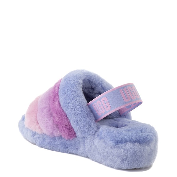 alternate view Womens UGG® Fluff Yeah Slide Sandal - Cornflower Blue / MulticolorALT2