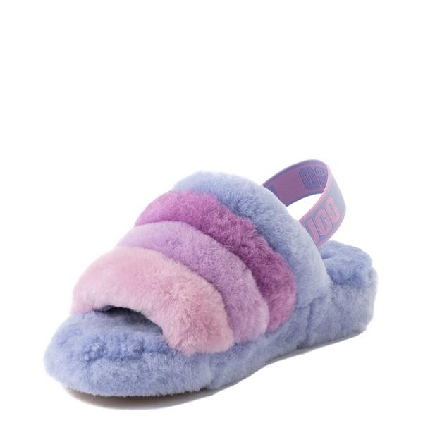 alternate view Womens UGG® Fluff Yeah Slide Sandal - Cornflower Blue / MulticolorALT3