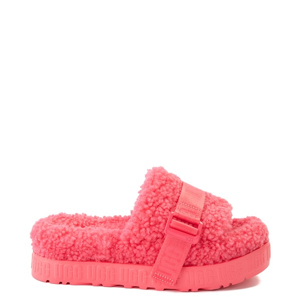Main view of Womens UGG® Fluffita Slide Sandal - Strawberry Sorbet