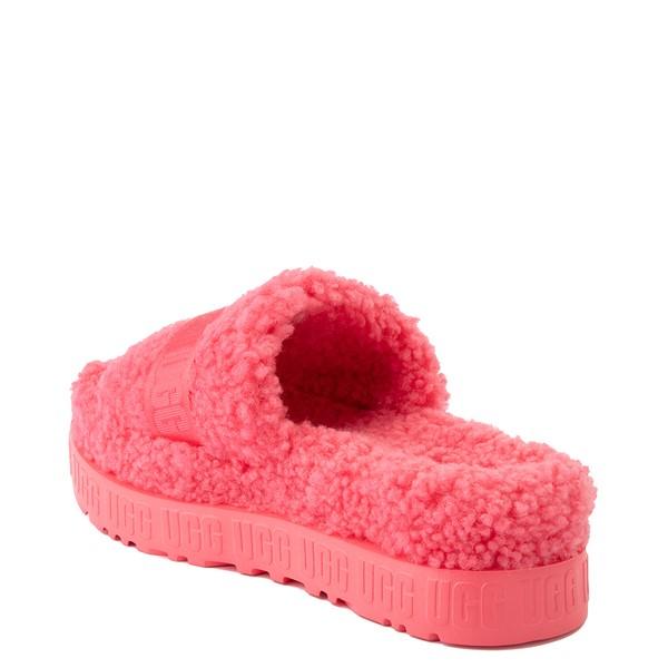alternate view Womens UGG® Fluffita Slide Sandal - Strawberry SorbetALT1