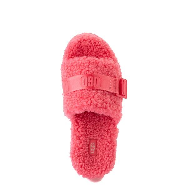 alternate view Womens UGG® Fluffita Slide Sandal - Strawberry SorbetALT2