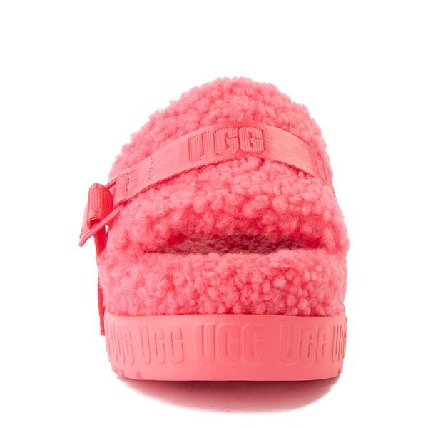 alternate view Womens UGG® Fluffita Slide Sandal - Strawberry SorbetALT4