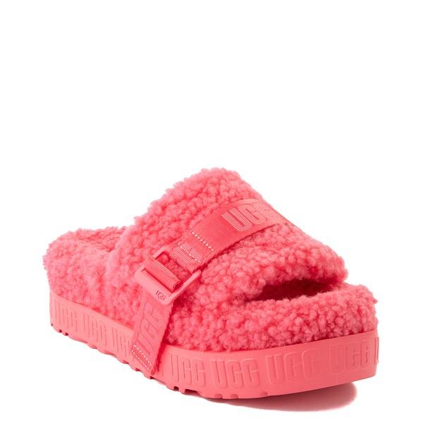 alternate view Womens UGG® Fluffita Slide Sandal - Strawberry SorbetALT5
