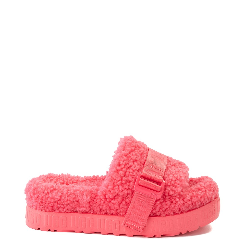 Womens UGG® Fluffita Slide Sandal - Strawberry Sorbet