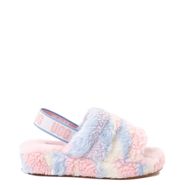 Main view of UGG® Fluff Yeah Pride Slide Sandal - Pastel Multicolor