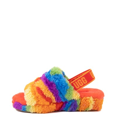 Alternate view of UGG® Fluff Yeah Pride Slide Sandal - Rainbow
