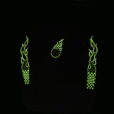 Alternate view of Mens Vans Glow Flame Long Sleeve Tee - White