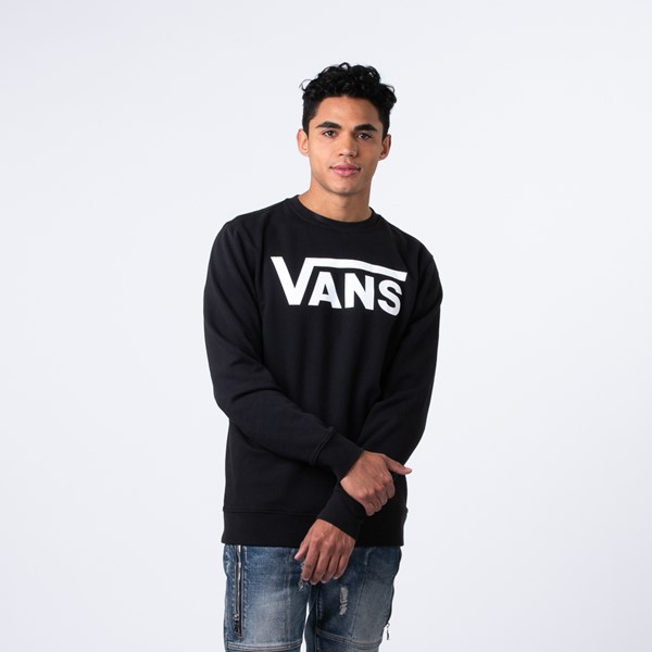 Mens Vans Classic Drop V Crew Sweatshirt - Black