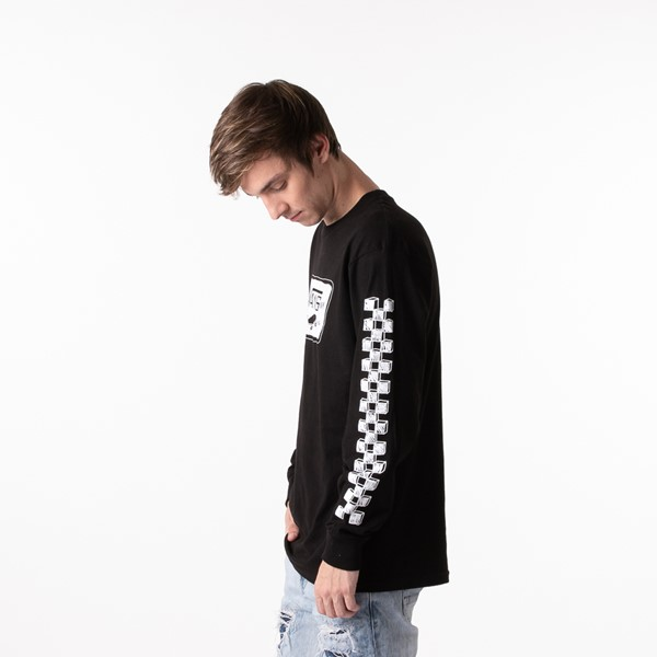 alternate view Mens Vans Sketch Patch Long Sleeve Tee - BlackALT4