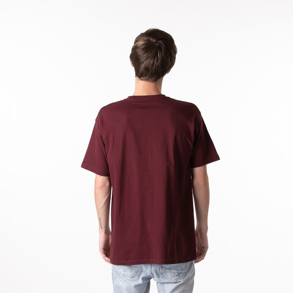 alternate view Mens Vans Classic Drop V Tee - BurgundyALT1