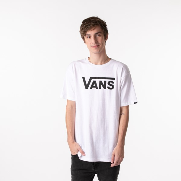 Mens Vans Classic Drop V Tee - White / Black