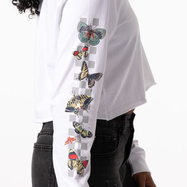alternate view Womens Vans Metamorphosis Cropped Long Sleeve Tee - WhiteALT2C