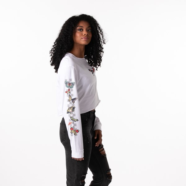 alternate view Womens Vans Metamorphosis Cropped Long Sleeve Tee - WhiteALT3
