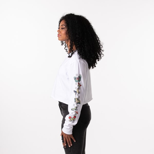 alternate view Womens Vans Metamorphosis Cropped Long Sleeve Tee - WhiteALT4