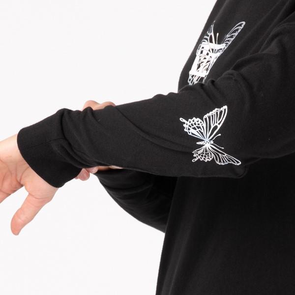 alternate view Womens Vans Flutterfly Long Sleeve Boyfriend Tee - BlackALT1B