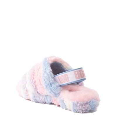 Alternate view of UGG® Fluff Yeah Pride Slide Sandal - Little Kid / Big Kid - Pastel Multicolor
