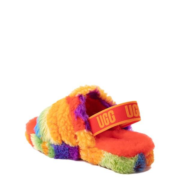 alternate view UGG® Fluff Yeah Pride Slide Sandal - Little Kid / Big Kid - RainbowALT1