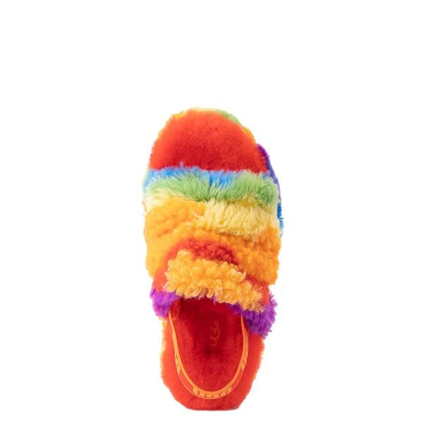 alternate view UGG® Fluff Yeah Pride Slide Sandal - Little Kid / Big Kid - RainbowALT2