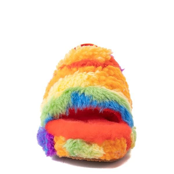 alternate view UGG® Fluff Yeah Pride Slide Sandal - Little Kid / Big Kid - RainbowALT4