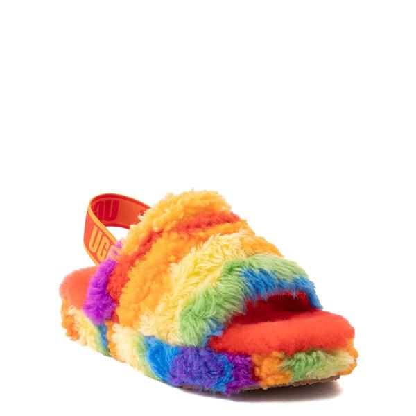 alternate view UGG® Fluff Yeah Pride Slide Sandal - Little Kid / Big Kid - RainbowALT5