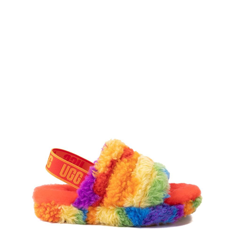 UGG® Fluff Yeah Pride Slide Sandal - Little Kid / Big Kid - Rainbow