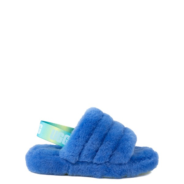 Main view of UGG® Fluff Yeah Slide Sandal - Little Kid / Big Kid - Mystic Blue