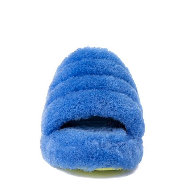 alternate view UGG® Fluff Yeah Slide Sandal - Little Kid / Big Kid - Mystic BlueALT4