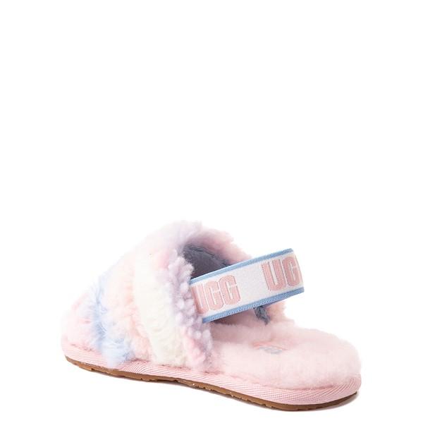alternate view UGG® Fluff Yeah Pride Slide Sandal - Toddler / Little Kid - Pastel MulticolorALT1